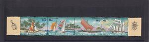 COCOS Islands  1987  SAILING CRAFT & Ship design strip set of 4 MNH