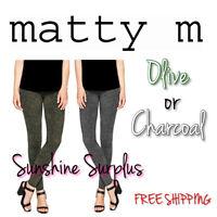 NEW Ladies' Matty M Wide Waistband Leggings - Thicker Material - VARIETY