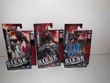 Transformers War For Cybertron Siege Battlemasters x3 Wave 1 Lionizer Firedrive