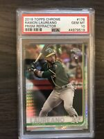 2019 Topps Chrome Ramon Laureano Prism Refractor Rookie PSA 10 Oakland A's RC