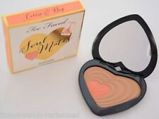 Too Faced Soul Mates Blushing Bronzer Carrie & Big Heart Shaped Compact NEW