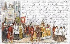 Szt. Istvá napi kormenet. Procession à la fête de St. Etienne à Budapest 1900