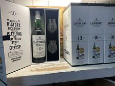 1x Whisky Laphroaig 10 Years Con Bicchieri E Box 2000 To Today 70cl 40% I