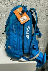 Avalanche Air Bag Backpack Mountain Safety ABS Powder 26 Zip On + Base Unit Blue