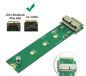 12+16 Pin SSD to M.2 NGFF PCI-e Adapter Converter For MacBook Air Pro 2013-2015