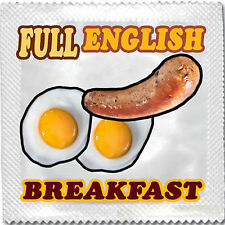 FULL ENGLISH FUNNY NOVELTY CONDOM CONDOMS HEN STAG NIGHT PARTY CE FDA ISO TESTED