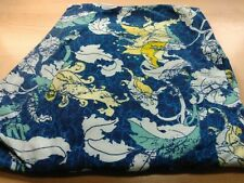 Lularoe TC Leggings Yellow Flowers, Mint Leaves, Blue Swirl Background EUC
