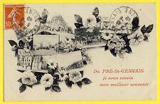 cpa Ecrite en 1909 Du PRÉ SAINT GERVAIS je vous envoie mon MEILLEUR SOUVENIR