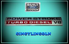 Power Stroke Turbo Diesel V8 Nnameplate 2005 - 2010 Ford F250 F350 F450 F550 OEM