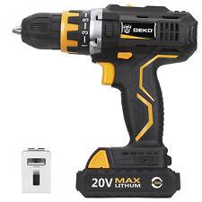 20V Lithium-Ion Cordless Drill/Driver 1/2-inch Chuck 2-Speed Max Torque 42N.m