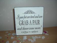 SHABBY Chic & vintage matrimonio ballo Scarpe piedi stanchi FREE STANDING segno