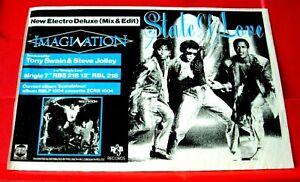 "Imagination State Of Love Vintage ORIGINAL 1984 Press/Magazine ADVERT 8.5""x 5.5"""