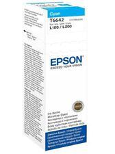 EPSON T6642 C13T664240 SERBATOIO INCHIOSTRO CIANO EPSON L355 L455 L555 L1300 70ml ORIGINALE