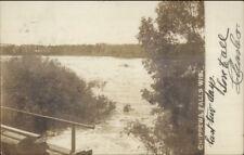 Chippewa Falls WI River & Bridge c1910 Real Photo Postcard