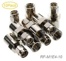 10-Pack FME Male to SMA Male 50-ohm Coax Antenna Adapters, RF-M1E4-10
