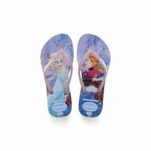 Havaianas Unisex Adults Kids Girls Slim Frozen Flip Flops Sandals Anna Olaf Elsa