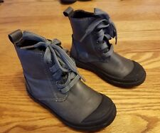 Blue Suede Shoes Brand Kids Boots Gray Winter Rubber Faux Leather Size 8
