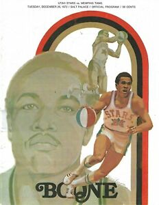 1972 Utah Stars vs. Memphis Tams ABA Basketball Program - Ron Boone #FWIL