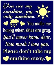 Primitive Stencil For Signs, Word, You Are My Sunshine, Nursery, Baby (#279)