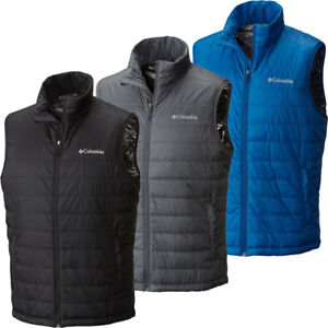 "$90 New Mens Columbia ""Crested Butte"" Thermal Insulated Omni-Heat Vest"