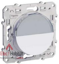 Bouton poussoir porte-étiquette Schneider Odace blanc S520266