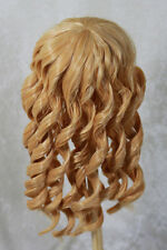 "1/3 8-9"" BJD DOLL WIG SD BLOND BLEND CURLY LONG BANGS DOLLFIE JR60 CLEARANCE"