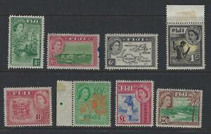 Fiji Part 1962 Set High Values with £1 Mint