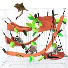 New Pet Hamster Bird Hanging Swing Hammock Animal Rat Mouse Cage Rope Bed Toys