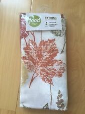 Food Network Set of 4 Napkins - Fall Leaves Thanksgiving - 20 in. x 20 in.