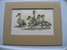 """GARY LOMAX """"BABY MALLARDS"""" ORIGINAL SILK SCREEN PRINT LE SIGNED DATED NUMBERED"""