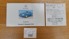Mercedes Benz CLK W208 Coupe Owners Exterior Manual Genuine OE