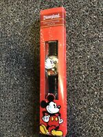 Disneyland Resort Limited Release Mickey Mouse Watch Black Leather Band - NIB