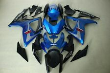 ABS Fairing for suzuki GSXR600/750 06-07 Black and blue colors ABS Kit 2006 2007