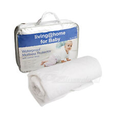 100% Cotton Cover Baby Cot Waterproof Mattress Protector with Corner Strap