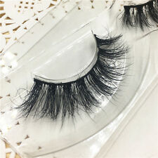 Hot 1 Pair 3D 100% Real Mink Mutilayers Thick False Eye Lashes Extension Messy