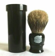 Simpson Progress Vulfix 2190 Pure Badger Shaving Brush With Travel Tube Black