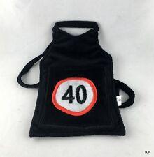 Bottiglie Grembiule Mini-Schürze 40 Compleanno Nero Flaschenverpackung