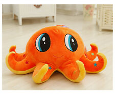 cute creative octopus toy plush orange octopus doll gift about 40cm