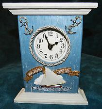 "Fabulous Heavy ""Anchors Awheigh"" Clock Nautical!"