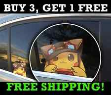 "Pokemon Go Pikachu Anime Car Window Decal Vinyl 5"" x 4"""
