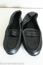 pretty ballet flat black leather ISOTONER size 36 NEW SATISFIED/REFUNDED
