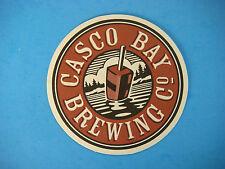 Beer Bar COASTER ~ Shipyard's CASCO BAY Brewing ~ Portland, MAINE Craft Brewery