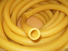 """10 Continuous ft. 3/4"""" I.D x 1/8 wall x 1"""" O.D Rubber Tubing Latex Amber Usa"""