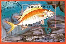 236 SAN TOME E PRINCIPE  Un superbe poisson Bloc oblitéré N° 1306A201