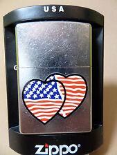 "Zippo ""PATRIOTIC HEARTS"" TOP - NEU - USA - 1090"