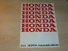 18574) Honda Accord Civic Quintet Prospekt 1981