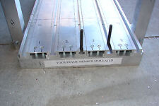 T-Slotted Table CNC Router Extruded Aluminum Top 2' W X 4' L  Slots in 4' dir.