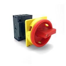 Hauptschalter 25A 4-polig fronteinbau Drehschalter Trenn 4P25A-E Schalter ARLI