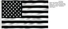 New listing 3'x5' Usa Black and White American Flag