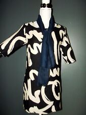 ROBE DRESS TUNIQUE GRAPHIQUE BICOLORE TRENDY ET ECHARPE T 36